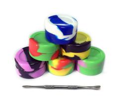 precios de la cera Rebajas El más nuevo juego de herramientas Dabber de cera Dab Kit 6pcs 5ML Contenedor de frasco de silicona 1 SS Dab Clavo de titanio DHL LIBRE AL POR MAYOR