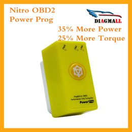 Wholesale Yamaha 25 - The Yellow Power Prog Benzine Car Chip Tuning Box NitroOBD2 With Reset Button Nitro OBD2 35% More Power 25% More Torque