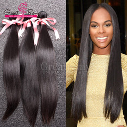 Wholesale Human Hair Weave Bleachable - 100% Malaysian Virgin Hair Weft Weave 8A 100g PC Dyeable Human Hair Extensions UNPROCESSED Straight Hair 3pcs Natural Color Bleachable
