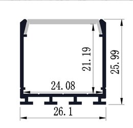 Wholesale Fedex Shipping Materials - 2000mmX26mmX26mm High Quality Aluminum Alloy Material 200cm Aluminium Profile Large Deep Square LED Strip Lighting Free Shipping By Fedex