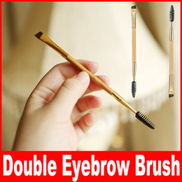 Wholesale Professional Eyebrow Shaping Tools - Tarte Shape Shifter Double-Ended Bamboo Brow Brush Professional Makeup tools eyebrow brush + eyebrow comb make up brush