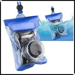 Wholesale Waterproof Case For Digital Camera - Portable Waterproof Camera Case Bag PVC 6.5*4.5 Inch Camera Carry Bag With Lanyard For Canon Snoy Nikon Olympus Digital Camera