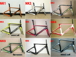 Wholesale Carbon Road Bike 51cm - 2017 T1100 Carbon Road Frame set Cipollini NK1K Carbon Road Bike Frames 3k or 1k carbon bicycle framework No Tax