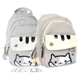 Wholesale Cute Shoulder Bags For Women - cute Japanese Game Neko Atsume Cat Backyard Printing Backpack Women School Bags For Teenager Girls College Style Casual Backpack in stock