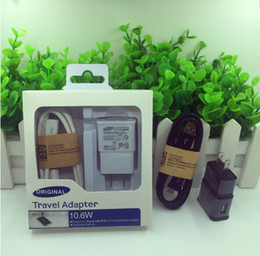 Wholesale Galaxy Charger Set - EU US Wall Charger Power Plug + Micro USB Cable Set for Samsung Galaxy S4 i9500 S6 S7 Edge Note4 5 6 with package