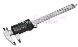 Wholesale Digital Vernier Caliper Widescreen - Wholesale-6'' 150 mm Digital Vernier Caliper Micrometer Guage Widescreen Electronic Accurately Measuring Stainless Steel