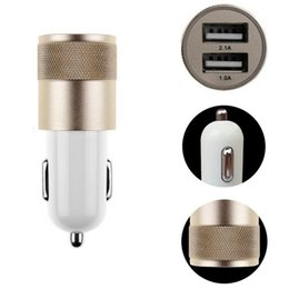 Wholesale Galaxy Dual - Best Metal Dual USB Port Car Charger Universal 2 Amp for Apple iPhone8 X 7 Plus Samsung Galaxy Motorola Droid Nokia Htc US01