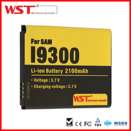 Wholesale Oem Battery Cell Phone - WST for GALAXY S3 I9300 Battery 2100mAh 3.7V batteries for android Cell phone batteries Original battery manufacturer OEM ODM