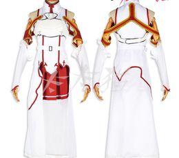 Wholesale Asuna Yuuki Cosplay Sword - Sword Art Online Asuna Yuuki Cosplay Costume Top Dress Gloves socks Belt Vest hemline