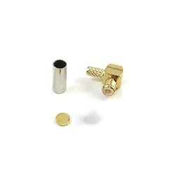 Wholesale Mcx Male Plug - Free Shipping 10pcs MCX Crimp Male Plug Right Angle Connector Adaptor For LMR100 RG316 RG174 Cable