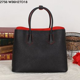 Wholesale Genuine Leather Bags For Sale - Classic women leather totes Cross grain pure color sturdy real leather casual bags suitable for different cases lowest prices on sale
