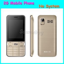 Wholesale Cheapest Quad Band Dual Sim - Cheapest 2G Unlocked Quad Band 2.8inch H-mobile T2 Mobile phone No System Back Camera Cell Phone with Blluetooth Flashlight FM Free Shipping