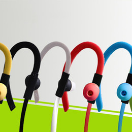 Wholesale Usb Wireless Handset - 2016 NEW sport Bilateral 4.1 bluetooth handset ears hook stereo bluetooth wireless headphones for universal euipment