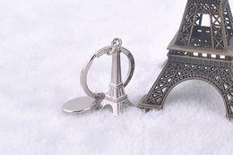 Wholesale Eiffel Tower Paris Key - 3D Metal Simulation Eiffel Tower Keychain French Souvenir Paris KeyChain Key Chain Key Holder Keyring Free shipping by DHL