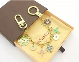 Wholesale Charms Holders - Women keychain famous brand key chain bag charm dangle key holder ring chains handbag charms keychains chaveiro llaveros porte clef