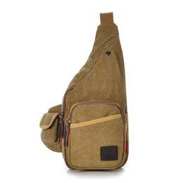 Wholesale Mobile Coffee - Wholesale-Vintage Women Men Outdoor Sport Chest Pack Women Casual Canvas Crossbody Shoulder Bag Fashion Mobile Phone Travel Messenger Bag