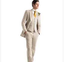 Canada Hommes Tuxedos beige costumes de mariage pour hommes Offre