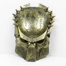 Wholesale Alien Vs Predator Costume - Wholesale-Terrorist Predator Mask Halloween Cospaly Party Plastics Alien vs Predator Warrior Masked Costume Mask Full Face Cosplay Mask