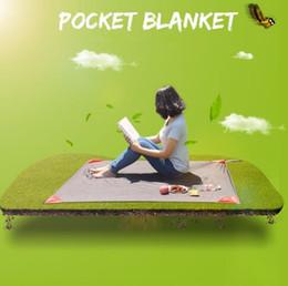 Wholesale Blanket Pockets - 140*110cm Camping Folding Picnic Mat Portable Pocket Blanket Garden Moistureproof Blanket Waterproof Ultralight Outdoor Mat CCA6908 60pcs