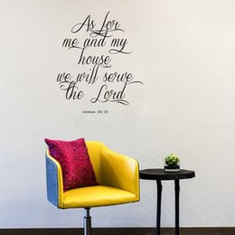 Wholesale Serving Pieces - Quote Wall Sticker We Will Serve the LORD Home Decor for Living Room or Bedroom Decoration