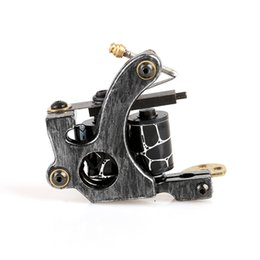 Wholesale Iron Tattoo Coil - New type durable High Quality Tattoo Machine for shade black Cast Iron Tattoo Motor Gun with high quality