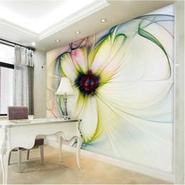 2019 papel de parede floral do quarto Atacado-foto wallpaper Modern Art papel de parede floral abstrato quarto sala de estar sofá-cama belas flores cenário papel de parede mural desconto papel de parede floral do quarto