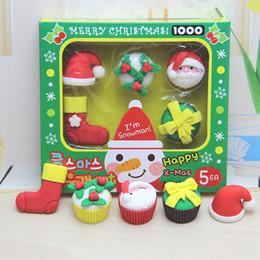 2019 niños lápiz labial al por mayor Estilo de dibujos animados de moda 5pcs mucho Borrador para los niños Regalo único de Navidad Original Mini Borradores lindos para estudiantes