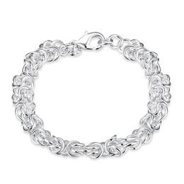 Wholesale 925 Mens Bracelet - Beautiful Jewelry 925 Solid Silver Classic Hoop Chain Bracelets High Quality Cheap Shrimp Buckle Bracelet For Women Mens Factory Price