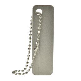 Wholesale File Car - Promotion EDC Pocket Sharpener Diamond Stone Keychain For Knife Fish Hook Finger Nail File Camping Hiking Gear L20