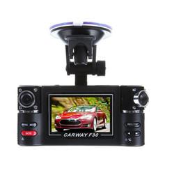 Wholesale Car Dvr Windshield - Dual Lens DVR Camcorder Camera F30 Dual Lens 2.7 inch Auto Camcorder Car DVR Camera HD Windshield Driving Recorder hot sale