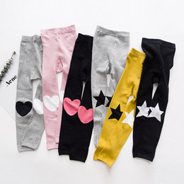 Wholesale Baby Star Leggings - Everweekend Baby Girls Stars Love Knitted Leggings Pants Candy Color Sweet Children Fashion Autumn Winter Clothing Pants