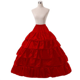 Wholesale Tulle Bustle - Bride bustle four rims five lotus leaf increased skirt dress super loose petticoat tulle skirt red black and white