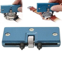 Wholesale Wrench Case - New Adjustable Useful Blue Watch Battery Change Back Case Opener Remover Screw Wrench Repairing Tool Kit