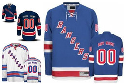 Wholesale Lights Ranger - Personalized New York Rangers Custom Mens Womens Youth Ice Hockey Cheap Jerseys Customized Home Light Blue Away White Navy Blue Third S,4XL