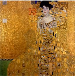 Wholesale Portrait Female - Gustav Klimt - Female Portrait of Adele Bloch-Bauer I,Pure Hand-painted portrait Art Oil painting On canvas, In Any size customized