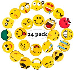 Wholesale Home Kitchen Supplies - Emoji Fridge Magnets, 24 Pack Refrigerator Magnets with Funny Kitchen Decor Noticeboard Office Supplies, Best Housewarming Home Decorations