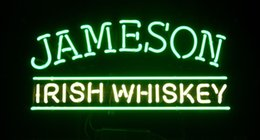 "Wholesale Jameson Whiskey Lights - Irish Whiskey Jameson Neon Sign Light Store Display Beer Bar Disco KTV Club Motel Real Glass Tube Logo Advertising Neon Signs 19""X10"""