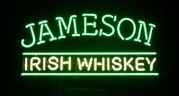 "Wholesale Jameson Whiskey Neon Signs - Irish Whiskey Jameson Neon Sign Light Store Display Beer Bar Disco KTV Club Motel Real Glass Tube Logo Advertising Neon Signs 19""X10"""
