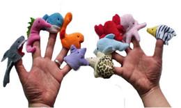 2019 brinquedos agrícolas por atacado Atacado-10pcs / set 2015 modelos de animais marinhos dedo mesmo educacional de infância brinquedos de pelúcia utensílios de peles