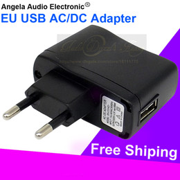 Wholesale Wall Charger For Mp3 Player - Quality Universal Travel EU USB Charger Wall Plug Power Adapter Euro AC Charging Adaptor For Mobile Phone MP4 MP3 Player