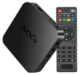 Wholesale MXQ TV Box S805 Quad Core Stream Media Player G G WIFI Android Fully Loaded Support ShowBox Mobdro for Sports Movies