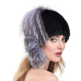 Wholesale Natural Mink Hats - Real Mink Fur Hat Natural Mink Fur Cap Winter Women Fur Beanie 1 Pcs Free Shipping[ TP99055 TP99056 TP99059]