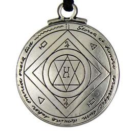 Wholesale Good Seal - Amulet Pendant NecklaceTalisman Good Luck Key of Solomon Pentacle Seal Pendant Hermetic Enochian Kabbalah Pagan Wiccan Jewelry