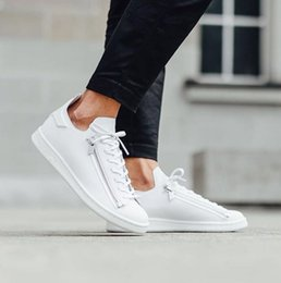 Wholesale New Mens Fall Fashion - 2016 New Superstar Y-3 Super Zip Stan Smith Men and Women White Casual Shoes Leather Flat shoes Fashion Y3 Mens Shoes 36-45