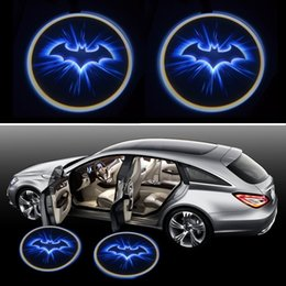 Wholesale Lights For Doors Car - batman BLue Wireless Car LED door Welcome Projector Logo ghost shadow light for kia rio hyundai logan lada polo almera jetta