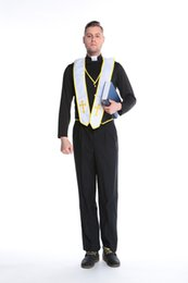 Wholesale Black Priest - Halloween male role play Cosplay uniform priest masquerade party costume