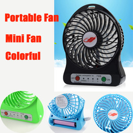 Wholesale Mini Usb Rechargeable Fan - New Portable Fan mini usb rechargeable fan with 2600mAh Power Bank and Flashlight for Traveling Fishing Camping Backpacking BBQ DHL OTH279