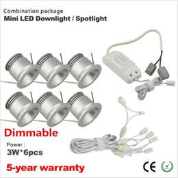 Wholesale Downlight Set - 6pcs set 2016 New product 3w Dimmable cabinet down light led mini downlight mini led spot with CE driver 90 degree 25mm cutout