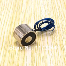 Wholesale Dc 12v Holding Electromagnet - 10PCS of DC 12V 3W Holding Electromagnet Lift Solenoid 2.5Kg (5.6lbs 25N) 20mm New FREE SHIPPING