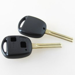Wholesale Toyota Camry Car Key Blanks - high quality car key shell replacement key case for Lexus Toyota 2 button remote key blank cover FOB key case with TOY40 blade no logo